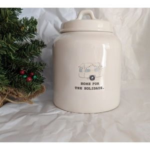 """New~🎄 Rae Dunn"""" Home For The Holidays"""" Canister"""